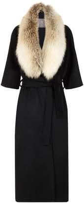 Lilly E Violetta 3⁄4-Length Sleeve Fur Collar Coat