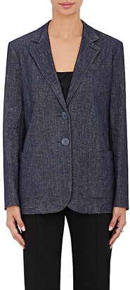 Giorgio Armani Women's Denim Two-Button Jacket $2,295 thestylecure.com