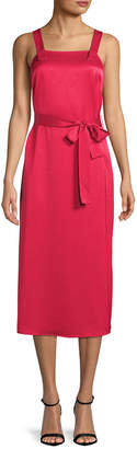 Armani Exchange Belted Midi Dress