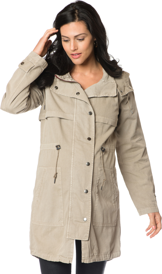 A Pea In The PodRemovable Hood Maternity Jacket