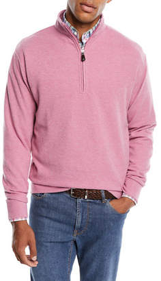 Peter Millar Melange Tri-Blend Fleece 1/4-Zip Sweater