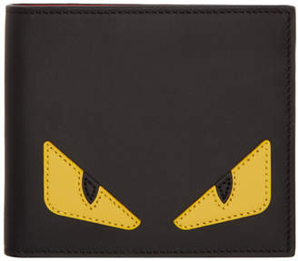 Fendi Black and Yellow Bag Bugs Wallet