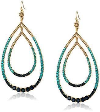 Trina Turk Sparkle and Shine Large Stone Blue Teardrop Earrings