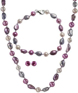 FINE JEWELRY Blossom 3-Pc. Freshwater Pearl Jewelry Set