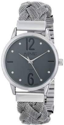 August Steiner Women's AS8092GN Swiss Quartz Diamond Accent Stainless Steel Mesh Watch