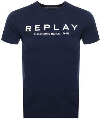 Logo Crew Neck T Shirt Navy