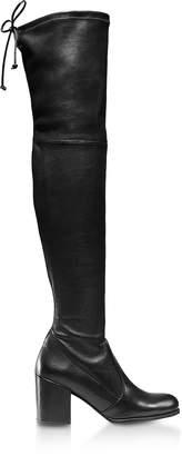 Stuart Weitzman Tieland Black Lush Nappa Boots