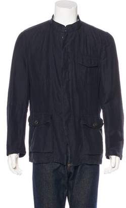 Dries Van Noten Linen-Blend Shirt Jacket