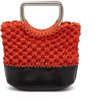 Proenza Schouler 'Market' small snake-embossed leather macramé bag
