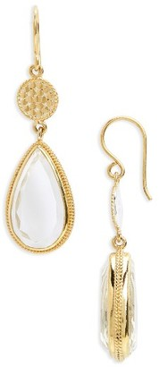 Women's Anna Beck Crystal Quartz Double Drop Earrings $350 thestylecure.com