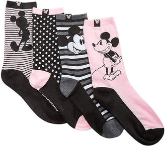 Planet Sox 4-Pk. Vintage Vibes Mickey Mouse Crew Socks