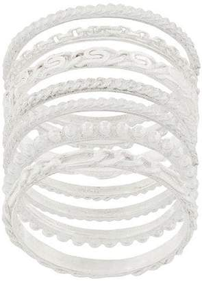 Wouters & Hendrix My favourite textured stacked ring
