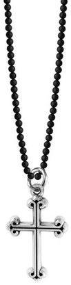 Men's King Baby Sterling Silver & Onyx Cross Pendant Necklace $370 thestylecure.com