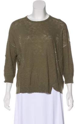 Zadig & Voltaire Distressed Long Sleeve Top