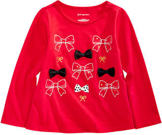 First Impressions Baby Girls Bows-Print Cotton T-Shirt