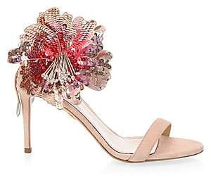 Aquazzura Women's Disco Flower Sandals