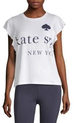 Kate Spade Logo Ruffle Tee