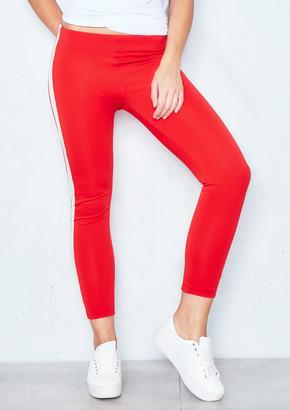 e52b5614b82 Missy Empire Missyempire Daisy Red Stripe Tie Waist Cropped Trousers