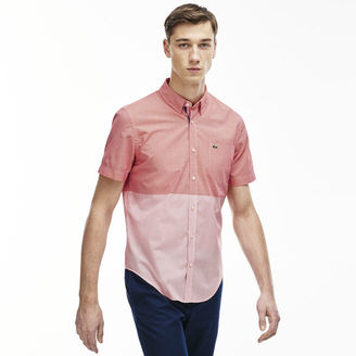 Men's Slim Fit Striped Gingham Poplin Shirt $95 thestylecure.com