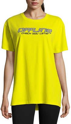 Flirtitude Short Sleeve Crew Neck T-Shirt-Womens Juniors