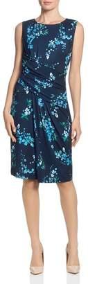 T Tahari Floral-Print Draped Dress