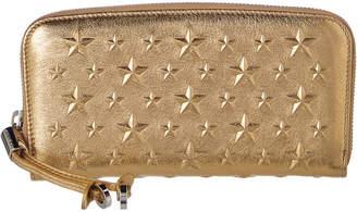 3891a0ec275 at Rue La La · Jimmy Choo Filipia Star Embellished Metallic Leather Wallet