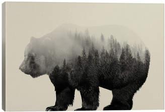 iCanvas Icanvasart Bear In The Mist Canvas Art Print