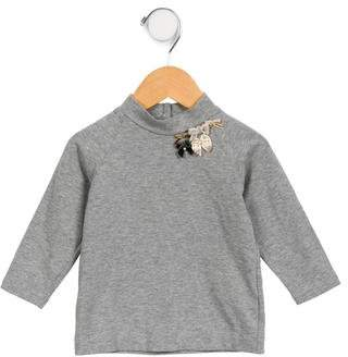 MonnaLisa Girls' Embellished Long Sleeve Top
