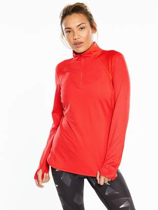 The North Face Mountain Athletics Motivation 1/4 Zip Long Sleeve Shirt - Red