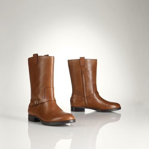 Ralph Lauren Saphira Vachetta Short Boot