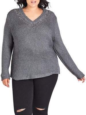 City Chic Plus Hardware Sweater