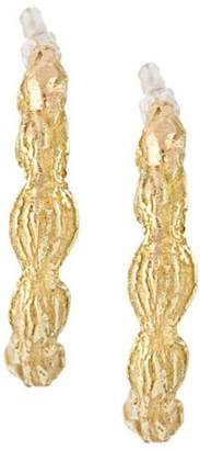 Wouters & Hendrix Gold 18kt yellow gold sculpted hoop earrings