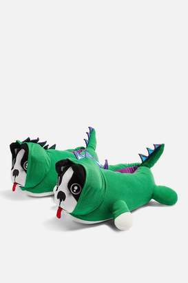 Topshop Dino Dog Slippers