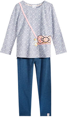 Hello Kitty Toddler Girls 2-Pc. Printed Purse Top & Leggings Set