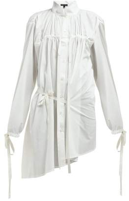 Ann Demeulemeester Drawstring Tie Cotton Shirt - Womens - White