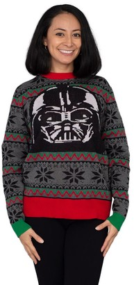 Mighty Fine Star Wars Darth Vader Mask Ugly Christmas Sweater