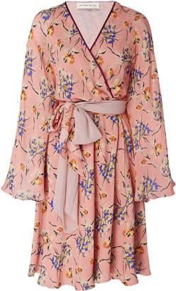 Etro Merseyside Silk Mini Wrap Dress