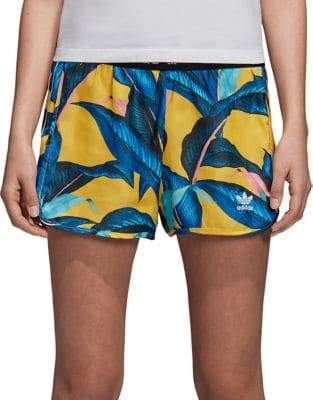 adidas Printed High-Waisted Shorts