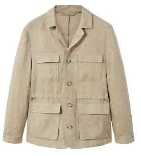 Mango man MANGO MAN Striped linen field jacket
