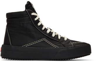 Rhude Black Nylon V1 Hi Sneakers