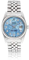 Rolex Vintage Watch Women's 1972 Oyster Perpetual Datejust Watch - Blue