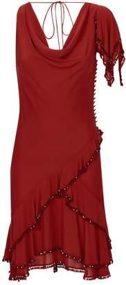 Roberto Cavalli Beaded Cowl Neck Dress