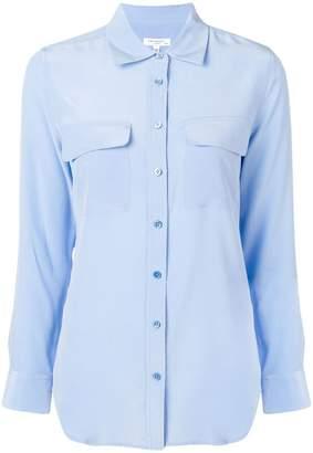 Equipment plain button shirt