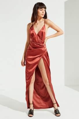 The Jetset Diaries Leo Silk Wrap Maxi Dress