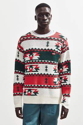 Chums Delta Pattern Knit Crew-Neck Sweater