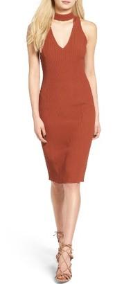 Women's Leith Choker Body-Con Dress $75 thestylecure.com