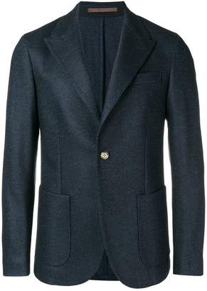Eleventy melange single-breasted blazer