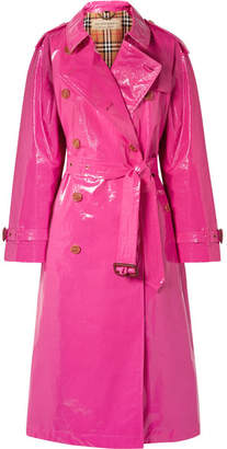 Burberry The Eastheath Coated-cotton Trench Coat - Bright pink