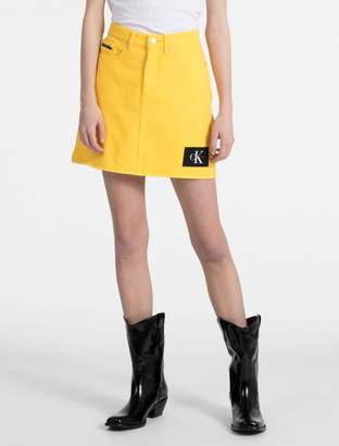 Calvin Klein monogram logo mini skirt