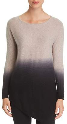 Bloomingdale's C by Asymmetric Dip-Dye Cashmere Sweater - 100% Exclusive